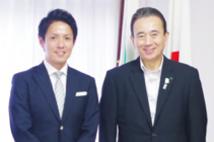 浜松市長とビズクリエイション代表取締役の初谷